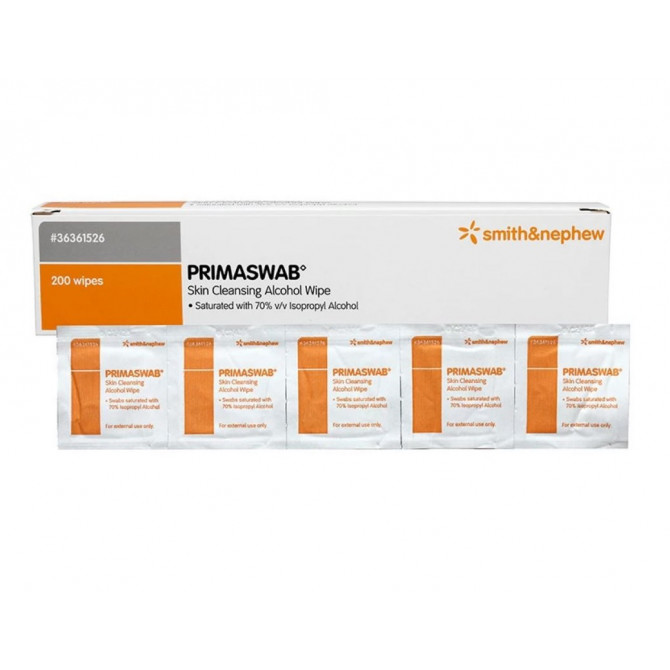 PRIMASWAB - Smith & Nephew - Alcohol Wipes with Isopropyl Alcohol 70%