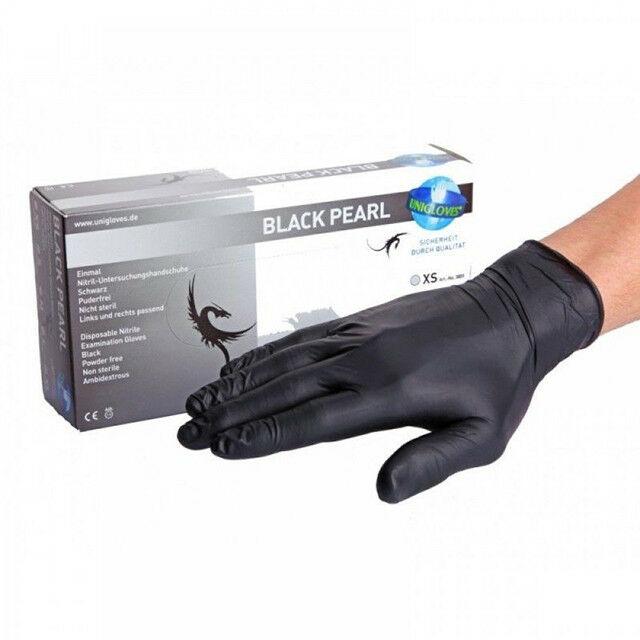 Small Unigloves - Black Nitrile Glove - 100 gloves per box