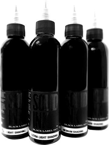 Black Label Wash 1, 2, 4 & 8oz Set - Solid Ink - Federico Ferroni