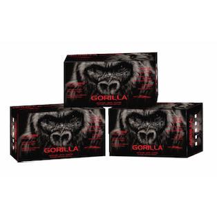 Large Gorilla - Black Nitrile Glove - 100 gloves per box