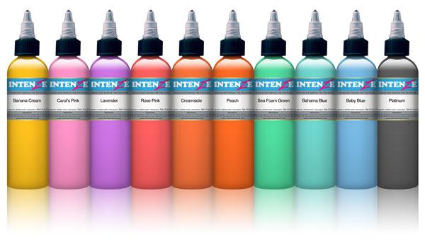 Pastel 10 Colour Set - Intenze