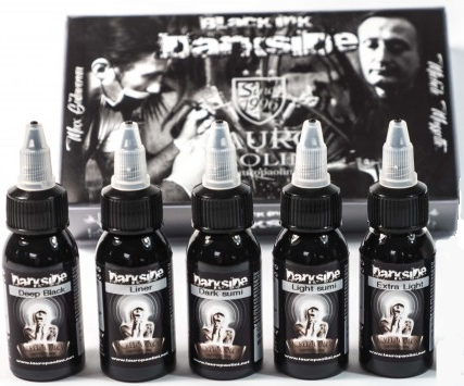 Darkside Black Ink Set - 5 x 150ml Bottles - by Lauro Paolini