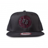 Luxury Hustle Wear New Era 9FIFTY Snapback Cap with Hustleberry Logo on Charcoal