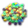 Coloured Rubber Nipples - 100 pcs per bag