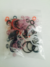 O-ring Mixed Colours & Sizes - 100 Pieces Per Bag