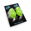 Green - Silicone Biogrip by Ego (No Back Lip) - Pack of 2 (fits 15mm - 19mm grips)
